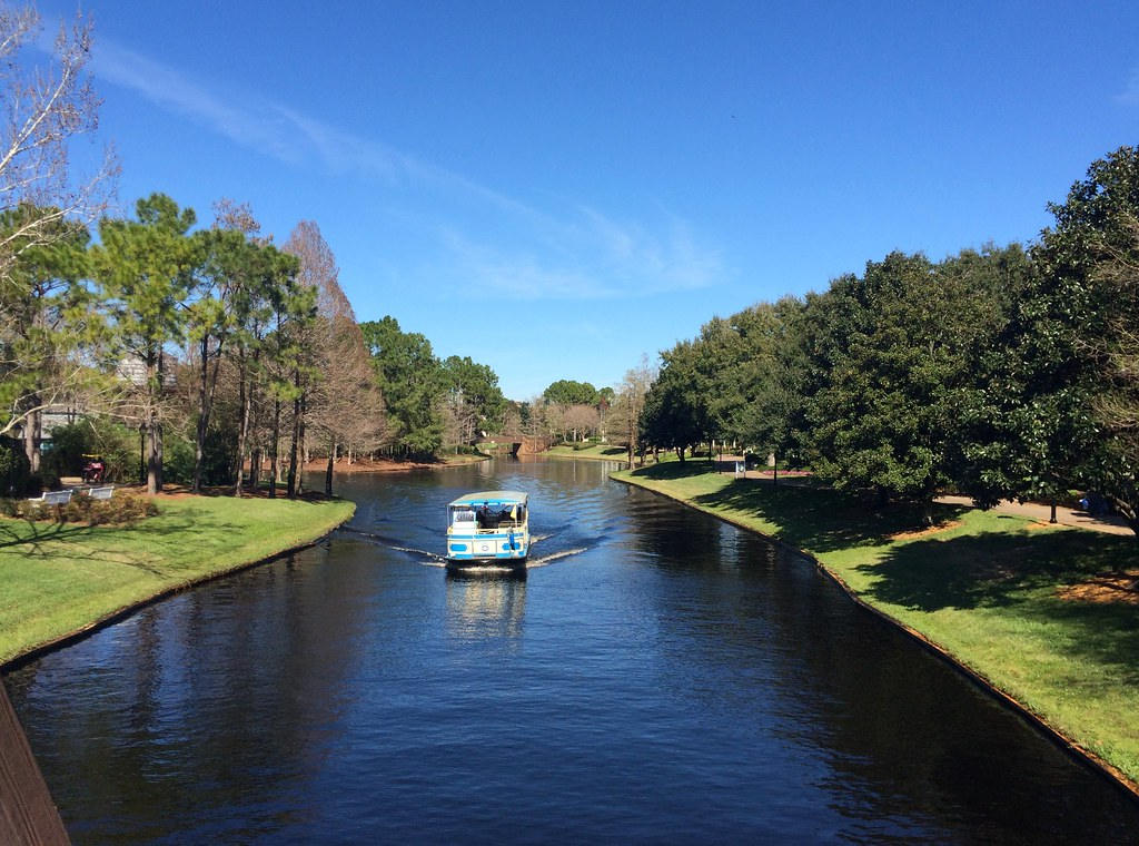 Orlando - Disney World - Disney's Port Orleans Resort - Riverside - Looking Down the River - Water Taxi