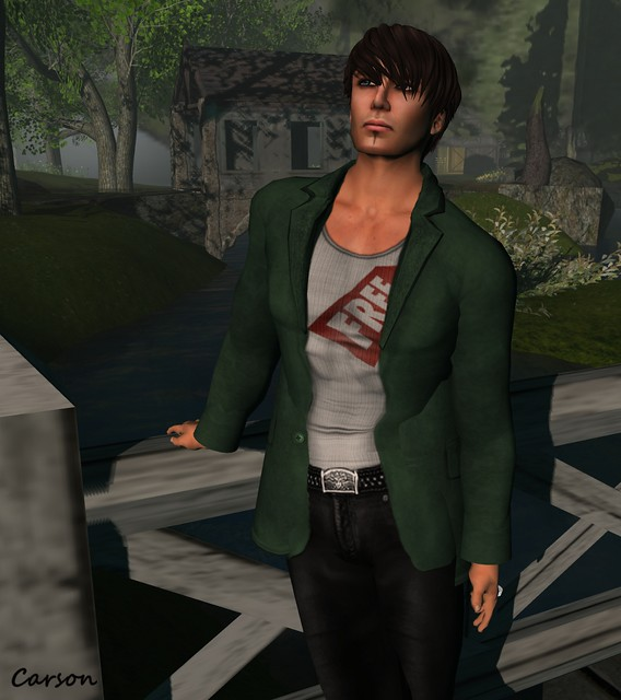 sf design suede jacket mens - green, RGDW - Basic Free White Tank