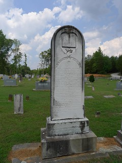 Signed headstone
