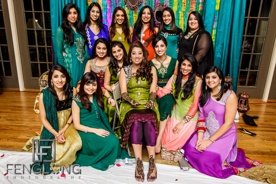 Bride and her friends group photo