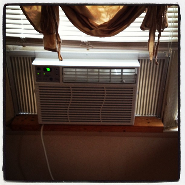 New Air Conditionar is finally in!!! Time for Bed!