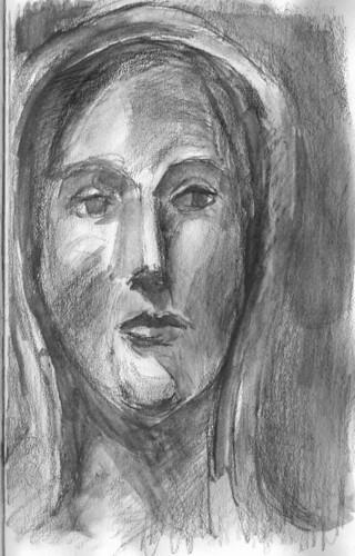 gothic madonna by husdant