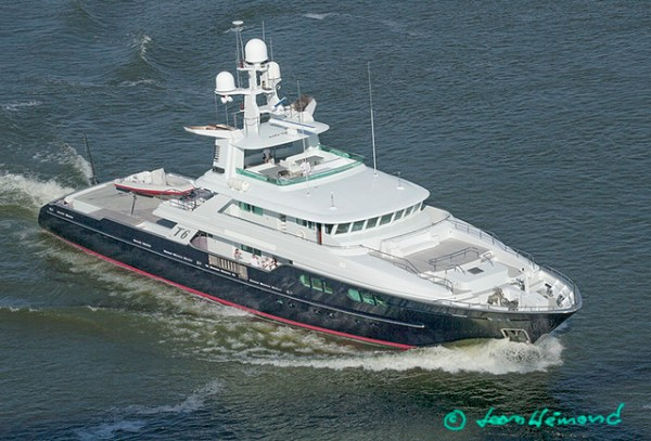Aerial view of Mega Yacht MY T6 IMO1006738 Paul