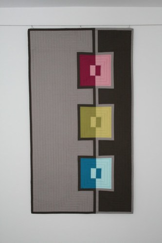 In The Mirror Wall Art Quilt