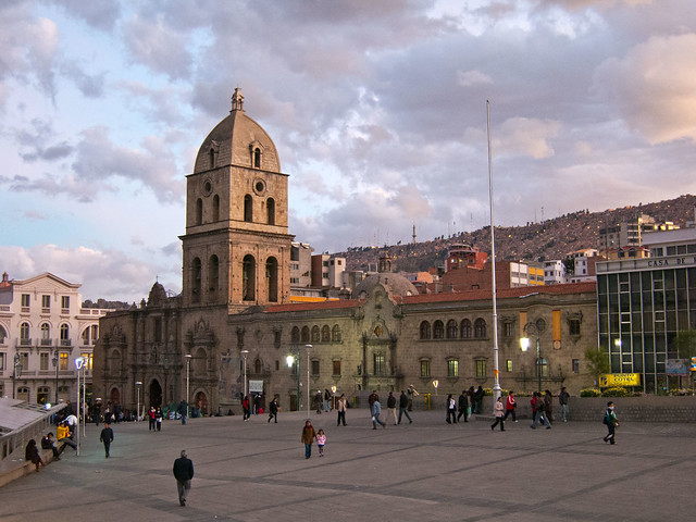 Iglesia de San Francisco at sunset