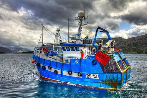 The trawler Ellorah on its way down Loch Broom from Ullapool on its quest for prawns #fishing #scotland by emperor1959