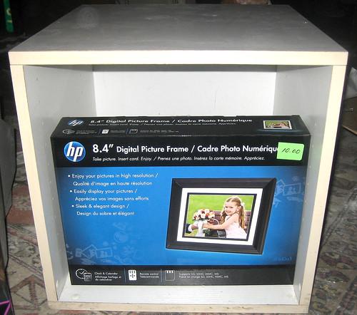 20120519 - yardsale booty - storage cube, digital picture frame - IMG_4216