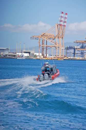Coast Guard zipping around