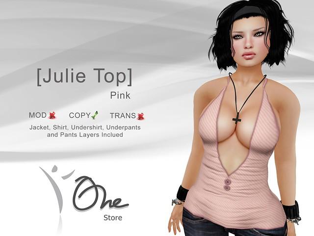 [Julie Top] Pink