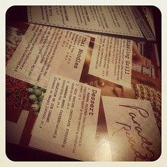 Menu doubles as placemat! I didnt use mine tho :)