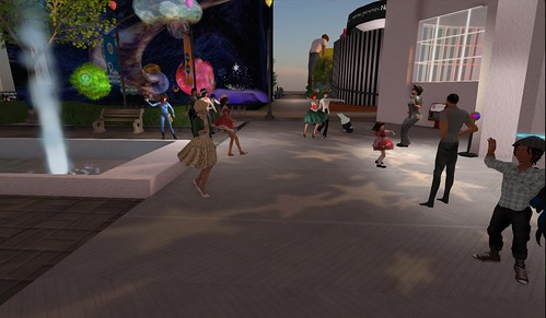 "Party at the Bay City Pavillion, photographed by Pygar ""Chicken Boy"" Bu"