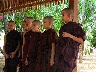 Novice monks from Monastery and Meditation Center