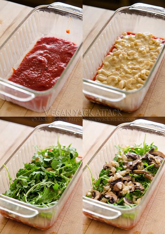 Macaroni Lasagna - Take your average lasagna and make it interesting with this macaroni and white bean cheese sauce version!