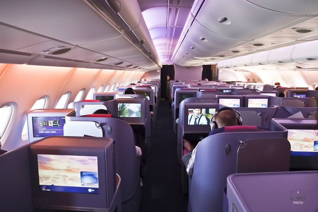 Business Class Cabin on Thai's A380