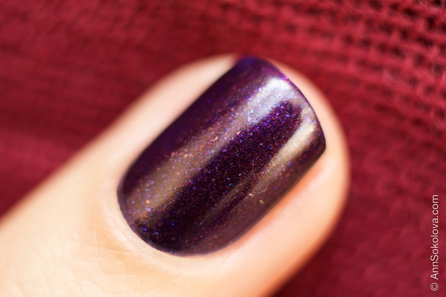 09 Kiko #497 Pearly Indian Violet nail laquer swatches macro