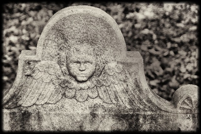 Headstone B&W with Texture