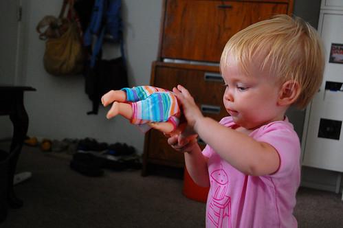 Gloria, her new doll.