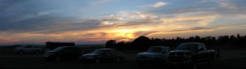 Lafleche sunset panorama