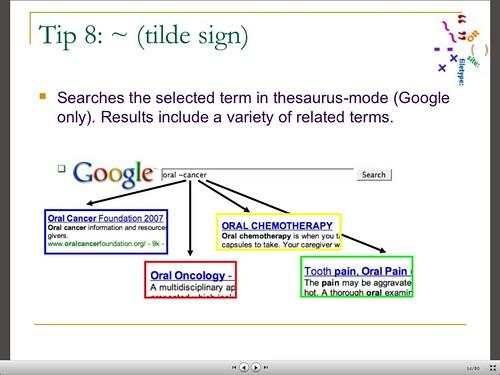 Google Tilde Command Examples
