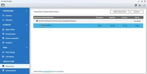 สร้างเสร็จ เราก็จะเห็น Virtual Disk แล้ว