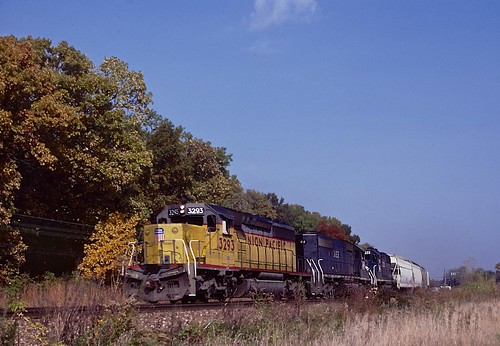 UP SD40-2 3293, Glenwood, IL