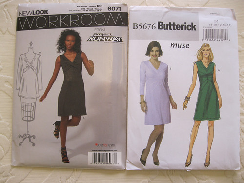 New Look 6071 & Butterick 5676 long sleeved dresses