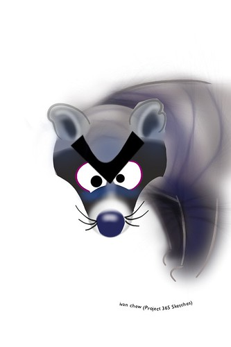 """""""Angry Civet Cat"""" (#143: Project 365 Sketches)"""