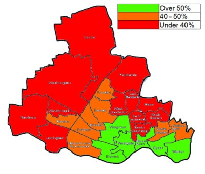 Census 2011 - households without vehicle