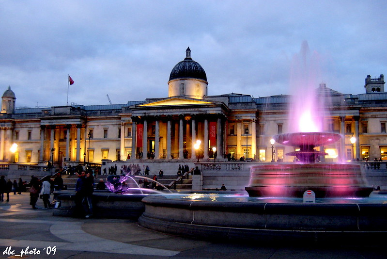 Trafalgar Square y la National Gallery