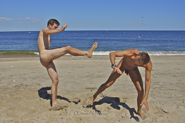 naturist 0051 capoeira @ Gunnison Beach, Sandy Hook, NJ, USA