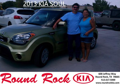 Thank you to Frankie Medrano on the 2013 Kia Soul from Fidel Martinez and everyone at Round Rock Kia! by RoundRockKia