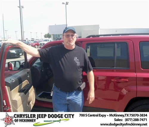 Dodge City of McKinney would like to say Congratulations to Jules Mitchell on the 2012 Jeep Patriot by Dodge City McKinney Texas