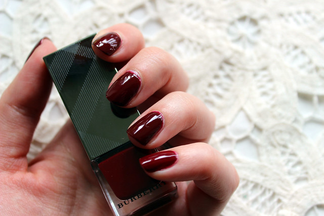 Burberry Oxblood nails 2