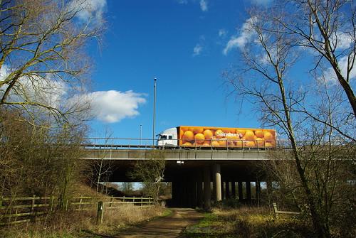 20120219-44_M1_Near Lilbourne - Sainsbury's Truck by gary.hadden