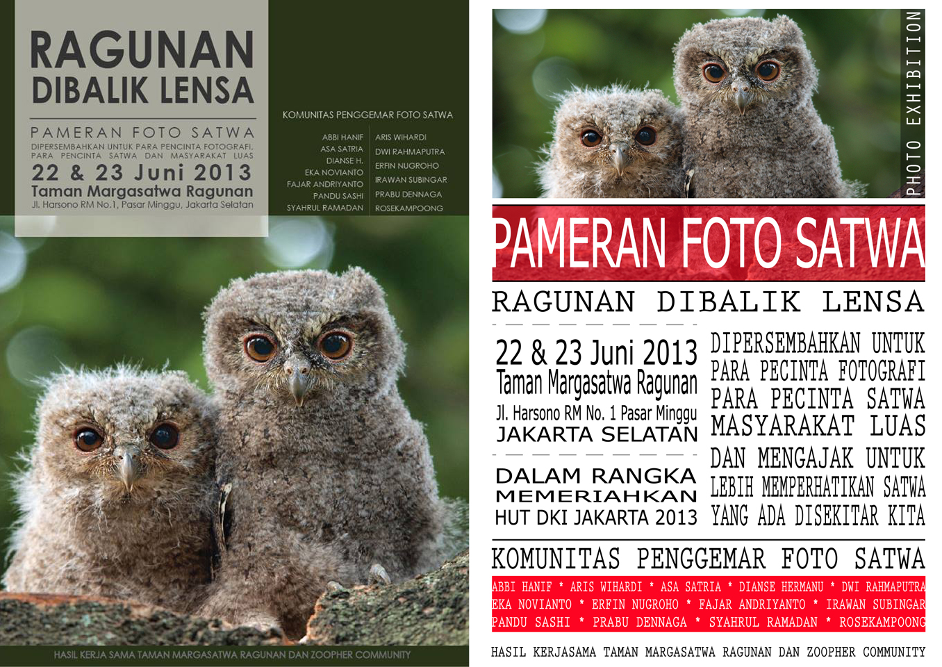 animals photo exhibition at ragunan jakarta indonesia