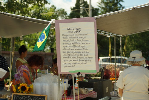 Brazilian, Lebanese and Thai food at the Carp fair