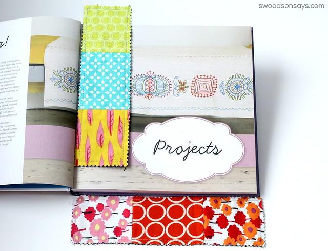 Fabric Scrap Bookmark