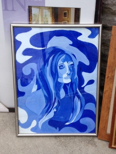 Tragic blue painting