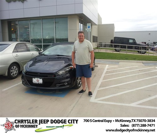 Dodge City of McKinney would like to say Congratulations to John Labrie on the 2013 Dodge Dart from Brent Villarreal by Dodge City McKinney Texas