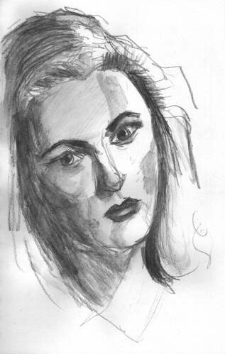 Gene Tierney by Husdant