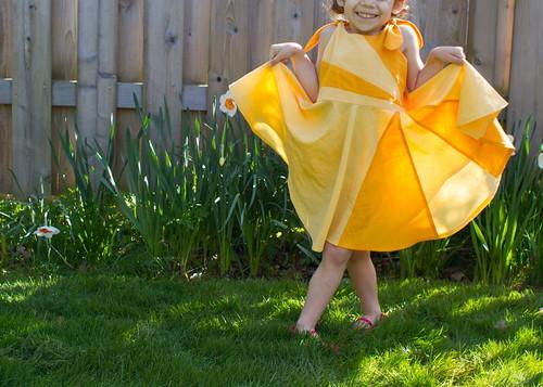 sunshine dress tutorial // skirt as top