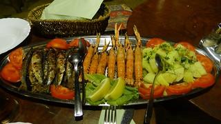 grilled sardines & scampi