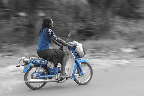 Iheaka Village Female Motorcyclist by Jujufilms