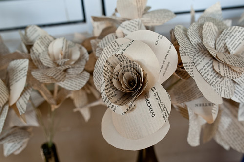 recycled book pages