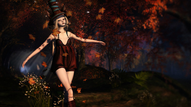 Autumn Walk in Yasum Romper and RO Magician Hat