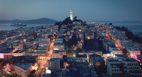 San Francisco Coit Tower One Blue Evening