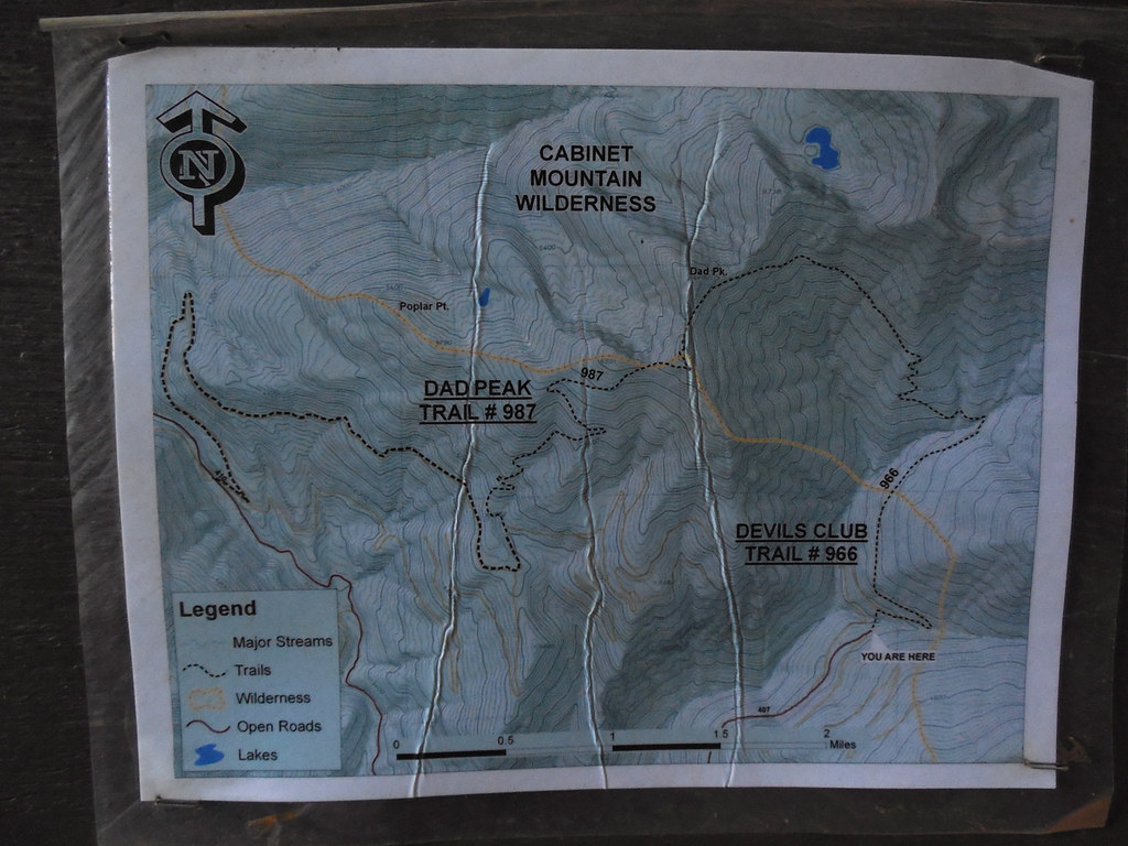 Devil's Club trail map