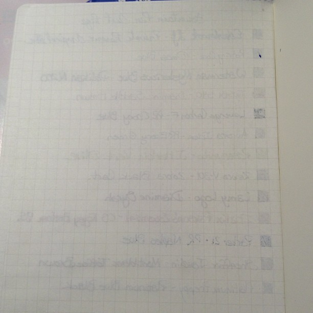 #twsbi notebook, back of writing test page.
