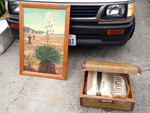 Cactus painting and accordion