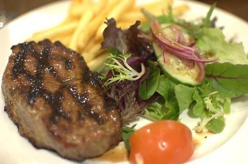 Char-grilled grass-fed sirloin steak